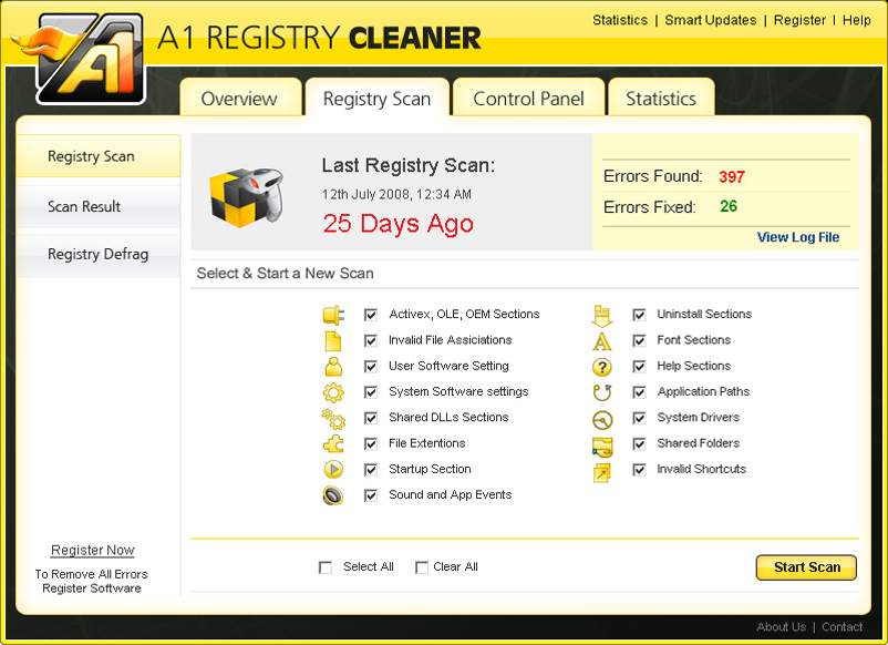 A1 Registry Cleaner
